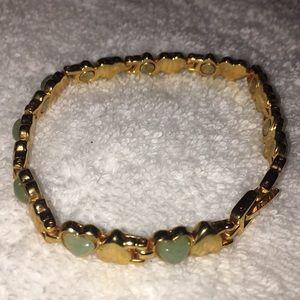 Bracelet 💚 gem and gold fashion